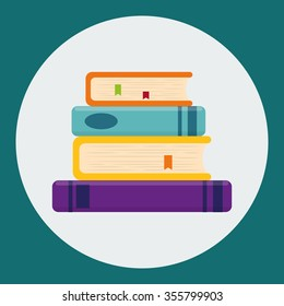 Education concept with books design, vector illustration 10 eps graphic.