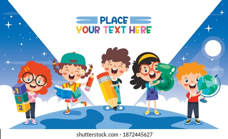 Education Concept With Funny School Child