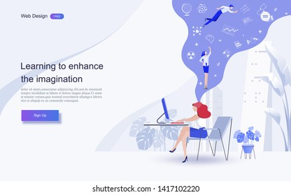 Education concept for website and landing page template.Online education, training and courses, learning, creative idea.Vector illustration.