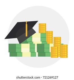 Education cost. Education scholarship money.