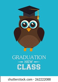 Education design over blue background, vector illustration.