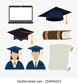 Education design over white background, vector illustration.