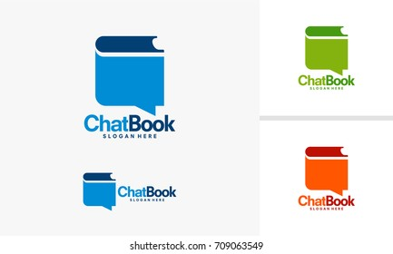 Education Discussion logo template, Book Review Logo designs vector