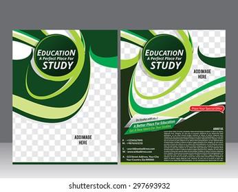 education flyer template design & magazine vector illustration