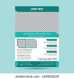 Education Flyer Templates.with different objects.