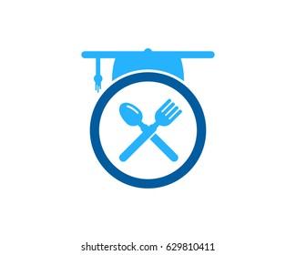 Education Food Icon Logo Design Element