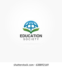 Education globe logo