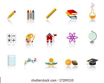 Education Icon Set - Color version