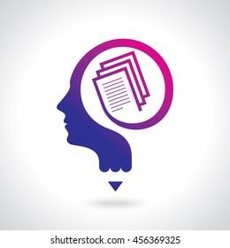 Education idea logo, modello Vector Logo.