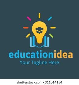 Education Idea Vector Logo Template