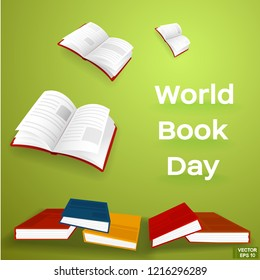 Education illustration. Vector of a colorful book for World Book Day.