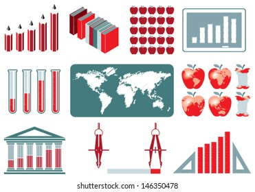 Education Infographics Elements Collection