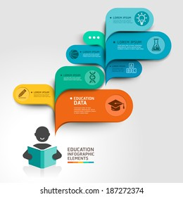 Education Infographics step option. Vector illustration. can be used for workflow layout, banner, diagram, number options, step up options, web design.
