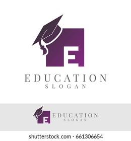 education initial Letter E Logo design