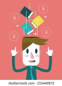 Education and inspiration concept. flat design. vector illustration