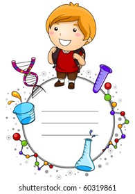 Education Kid with Space for Text - Vector