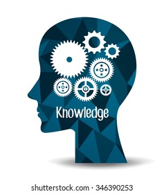 Education and knowledge graphic design, vector illustration eps10