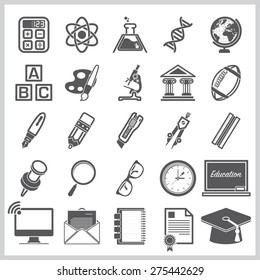 Education And Learning Sign Symbol Icon Set Vector Design