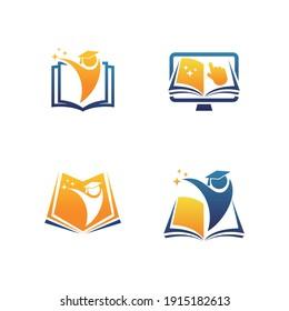 Education Logo Design. Book Logo design Vector