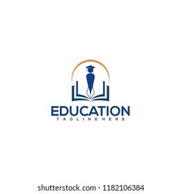 education logo icon design, vector illustration