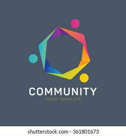 Education logo. Learning logo. Teamwork logo. Group logo. Team logo. Communication logo