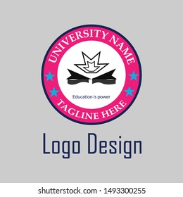 Education logo and vector template design