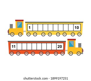 education number train for kids book