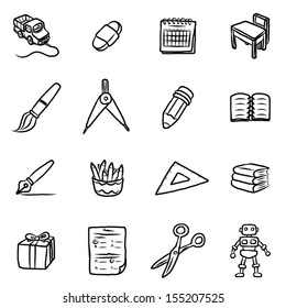 education objects or icons / cartoon vector and illustration, hand drawn style, isolated on white background.