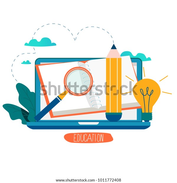 Education Online Training Courses Distance Education Stock Vector Royalty Free 1011772408