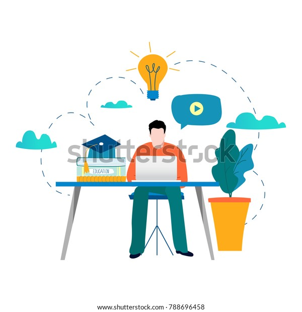 Education Online Training Courses Distance Education Stock Vector Royalty Free 788696458