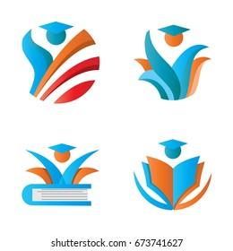 education people graduation logo template