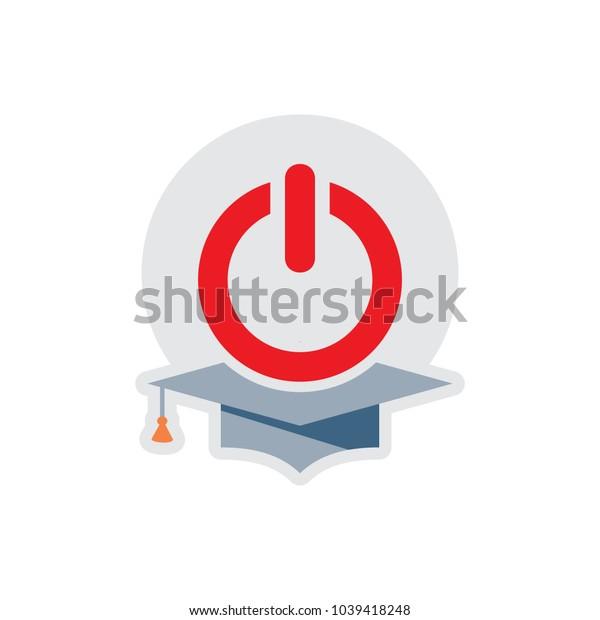 Education Power Logo Icon Design