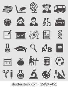 Education and School icons set.Vector