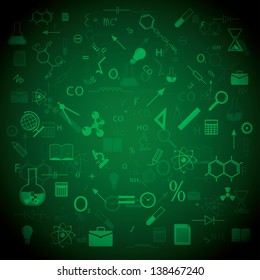 education and science. background vector. eps10