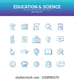 Education Science Line Icon