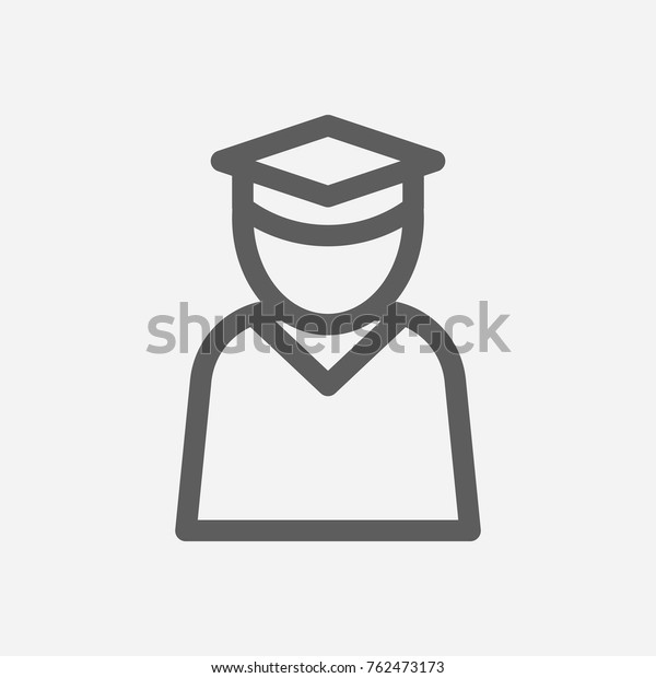 Education Student Icon Line Isolated Symbol Stock Vector