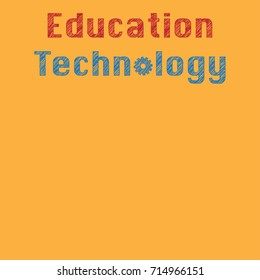 Education Technology ( EdTech) text with sketch effect and copy space