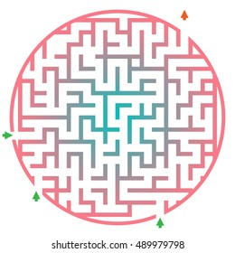 education test for children. Funny maze game for child
