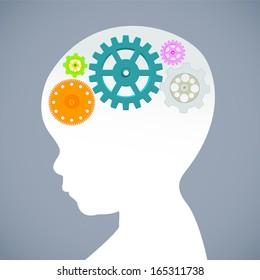 Education thinking concept. Vector illustration.