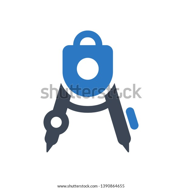 Education Tool Draw Compass Icon Stock Vector (Royalty Free