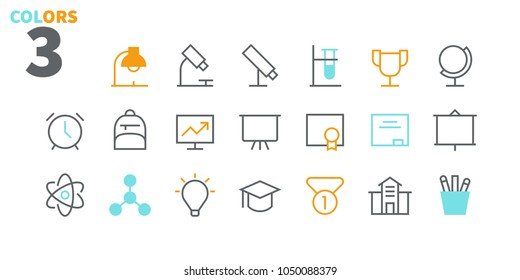 Education UI Pixel Perfect Well-crafted Vector Thin Line Icons 48x48 Ready for 24x24 Grid for Web Graphics and Apps. Simple Minimal Pictogram Part 1-2