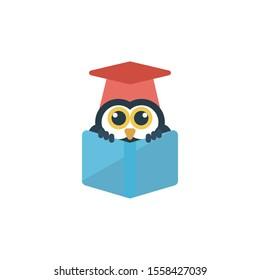 education vector flat colour icon
