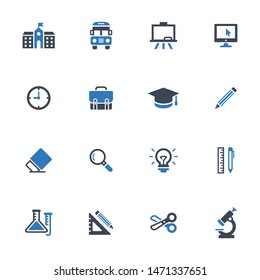 Education vector graphics icons - set 1