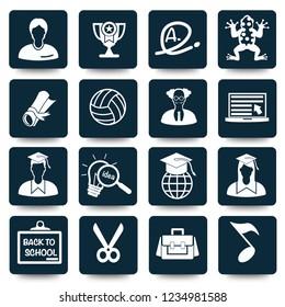 Education vector icon set
