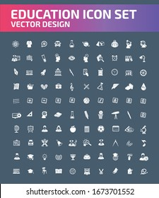 Education vector icon set design