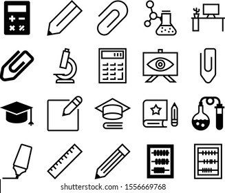 education vector icon set such as: graph, accessory, pharmaceutical, marker, master, presentation, scale, comfortable, microbiology, contemporary, permanent, digital, highlighter, worktable