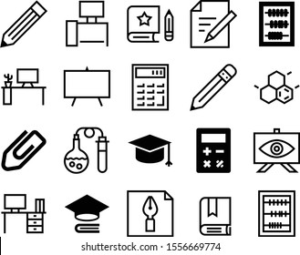 education vector icon set such as: fountain, connect, projector, digital, art, image, set, drug, literature, celebration, nib, pad, structure, test-tube, fluid, color, growing, calligraphy, pharmacy