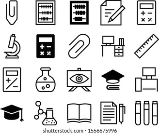 education vector icon set such as: screen, notice, enlarge, simple, ruler, blank, logo, message, zoom, text, training, letter, medication, literature, linear, macro, magazine, library, bachelor
