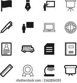 education vector icon set such as: simbol, spiral, decoration, access, badge, writing, guarantee, global, auto, metal, bright, address, collection, desktop, texture, contact, flag, laptop, automobile
