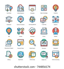 Education Vector Icons Set